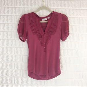 New York & Co. Ruffle short sleeve blouse